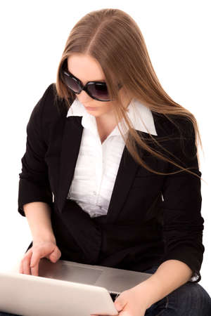 Young woman on E-commerce - Stock Image Stock Photo