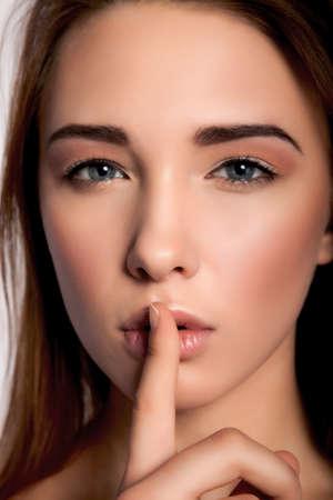 handcarves: Shhh... Hush - Silence Please! Stock Image