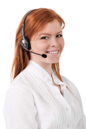 Young Beautiful Call Center Support