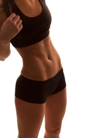 Female bodybuilder body shape - Stock Image Stock Photo