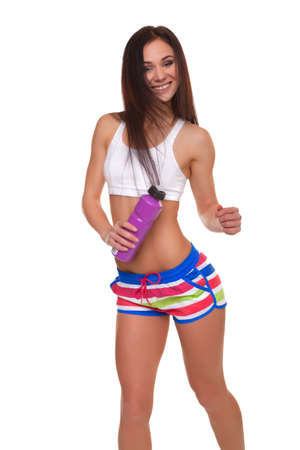 Gym woman dancing - Stock Image