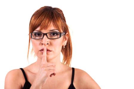 shhh: Shhh... Hush - Silence Please! Stock Image