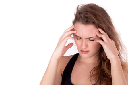 Young  woman have headache problem, stress