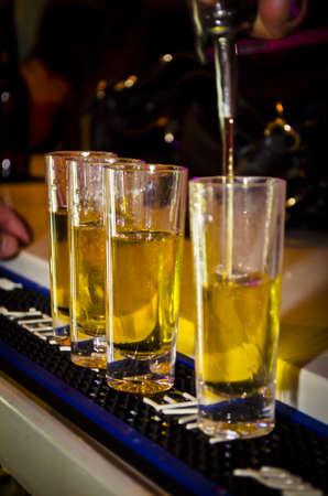 4 Yellow Alcohol Shot