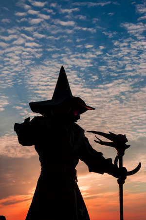 soothsayer: Magician silhouette