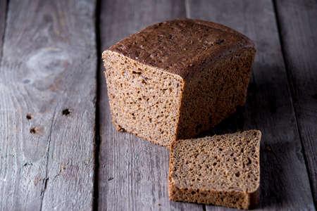 Healthy bread on old wooden background Zdjęcie Seryjne