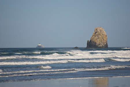 sea stacks off the Oregon Coast at Cannon Beach