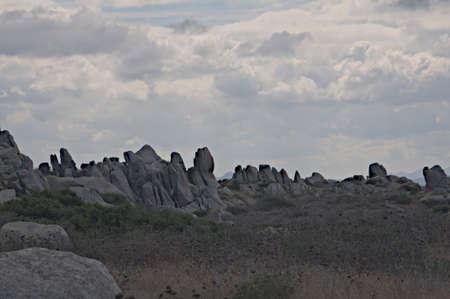 rocky terrain found on the island of Cavallo just off the coast of Corsica, near Bonifacio