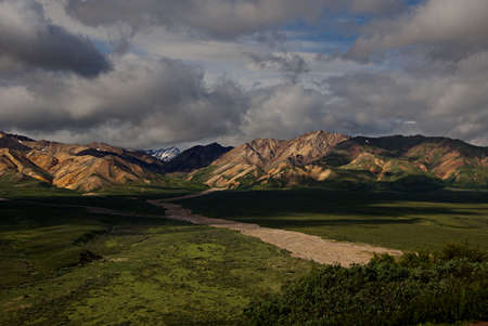 Mountain range in Mt. Denali National Park in Alaska