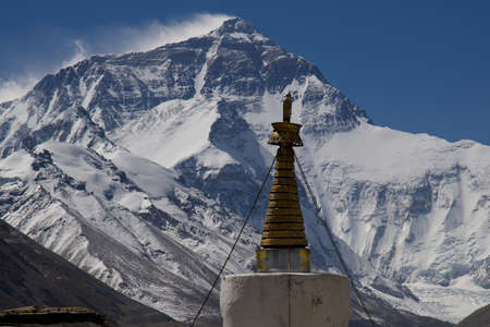 Mt. Everest from Rongbuk Monastery, Base Camp, Tibet