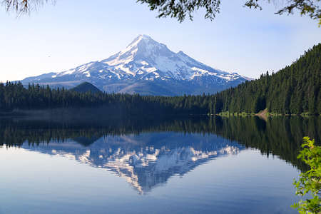 Lost Lake in the Oregon Cascades with Mt. Hood in the background