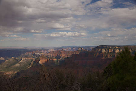 Point Imperial Overlook at the North Rim of the Grand Canyon, Arizona 版權商用圖片