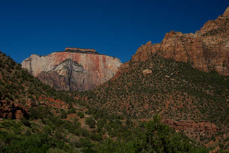 Along Highway 9 through Zion National Park, Utah Stock Photo