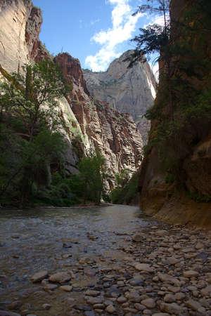 River Walk Trail in Zion National Park, Utah