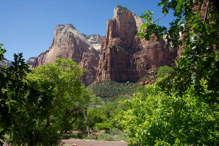 Court of the Patriarchs area of Zion National Park, Utah