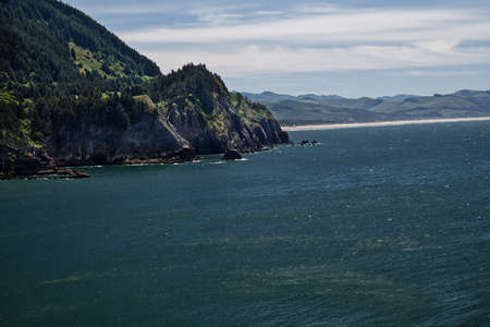Smugglers Cove from Cape Falcon Trail in Oswald West Oregon State Park  4008