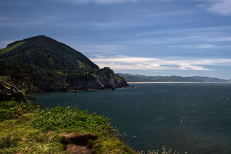 Smugglers Cove from Cape Falcon Trail in Oswald West Oregon State Park  4022