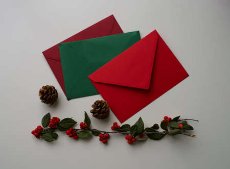 Letters for Santa Claus, the Three Kings, Christkind, St. Nicholas, Grandfather Frost or the three Wise Men. Christmas wishes, illusion, Wish List, hope, magic, children. Christmas decorations