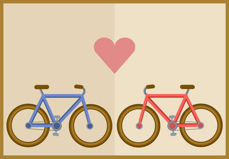 adore: bicycle and heart
