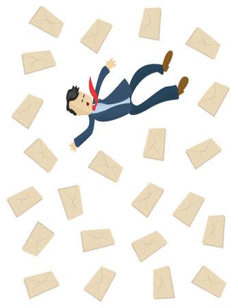 falling man: falling man and spams