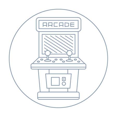 Schrank gezeichnet  Classic Arcade-Kabinett, Freistehend Old Fashion-Gaming-Maschine ...