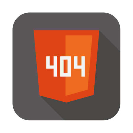 css3: vector collection of web development shield sign with 404 error not found isolated icon on white background