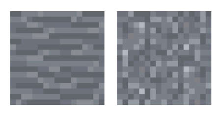 Texture for platformers pixel art vector - stone and gravel pattern