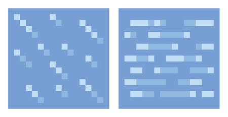 8bit: Texture for platformers pixel art vector -  water and ice pattern