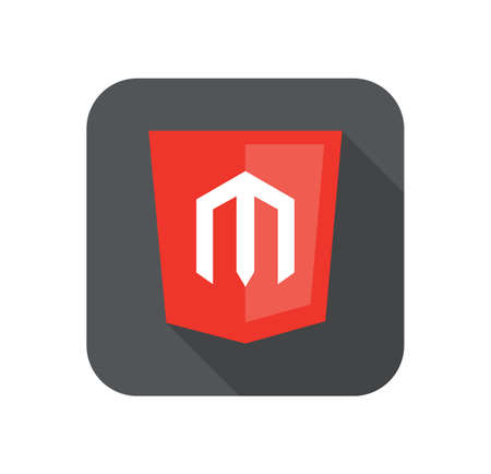 cms: vector web development shield sign - php framework sign. isolated flat icon on white background