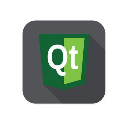 html5: vector web development shield sign - Qt technology. isolated green flat icon on white background Illustration