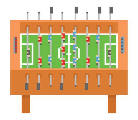 game icon: Table soccer pixel art vector illustration. kicker, bar football isolated on white