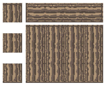 Texture for platformers pixel art vector - stone ancient column isolated block on white