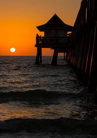 sillouette: Pier sillouette at sunset