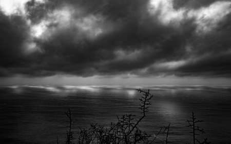 chapmans: black and white sky long exposure