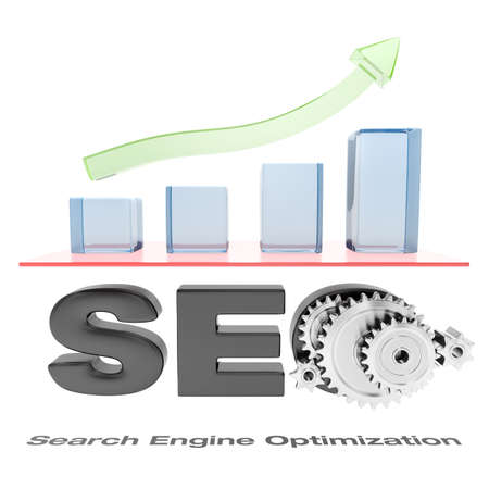 optimize: SEO chart with green arrow going up