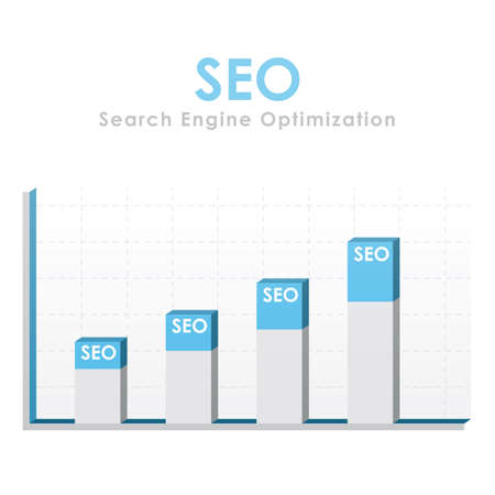 Search Engine Optimization graph with bars going up