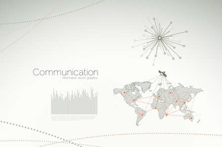 Communication graphics and concepts for business and corporate networks Vettoriali
