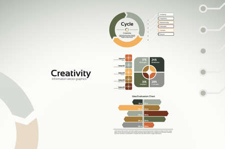 Creative corporate graphs and diagrams for reports and presentations Vettoriali