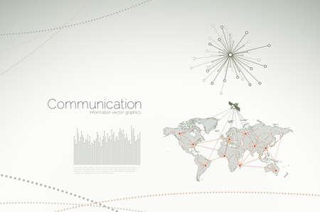 Grafica di comunicazione e concetti per le imprese e reti aziendali
