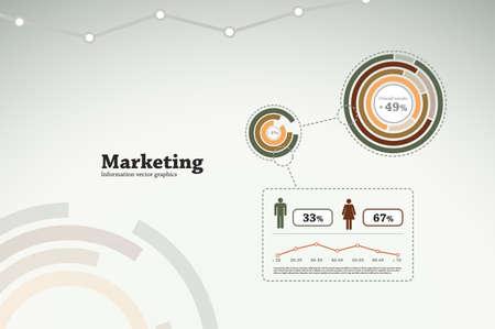 Marketing infographics for business statistics, reports, presentations, etc. Vettoriali