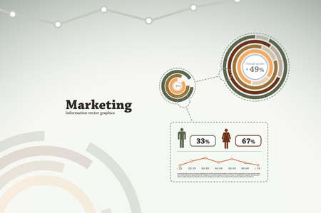 Marketing infographics for business statistics, reports, presentations, etc. Vector