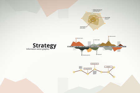 Business strategy infographics Vector