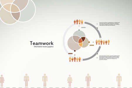 Teamwork infographics for business and corporate reports and presentations Vector