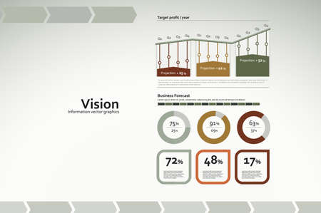 Corporate infographics for reports and presentations Vector
