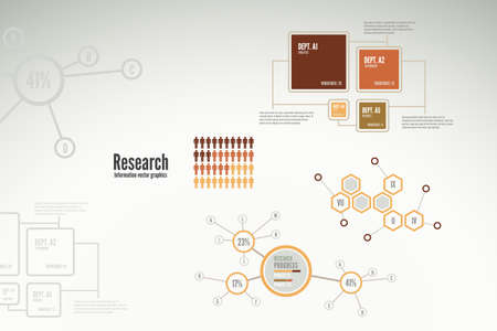 Research infographics with charts and diagrams for business reports