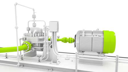 turbina de vapor: Motor aislado y diseño industrial generador de energía