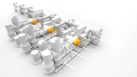 Design of industrial power generator and machinery photo