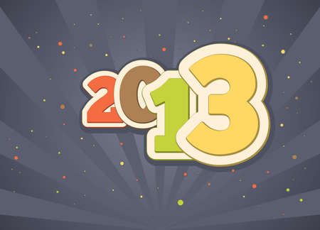 Festive gift card for a happy new year 2013 Vector