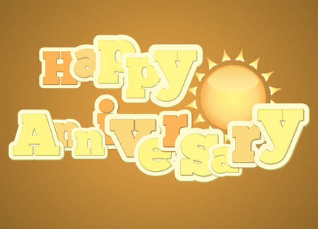 Vintage style happy anniversary typography for banners and gift cards Vector