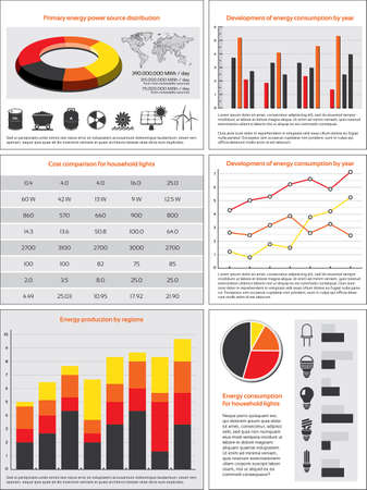 percentual: Charts, statistics and data for energy consumption